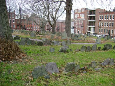 headstones: Boston burial ground headstones Editorial