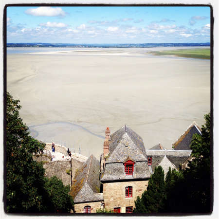st michel: View from Mont St Michel France Stock Photo