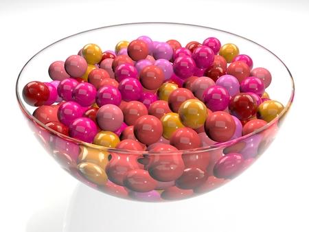 goma de mascar: Taz�n de vidrio plato bolas de chicle pelotas de goma dulces