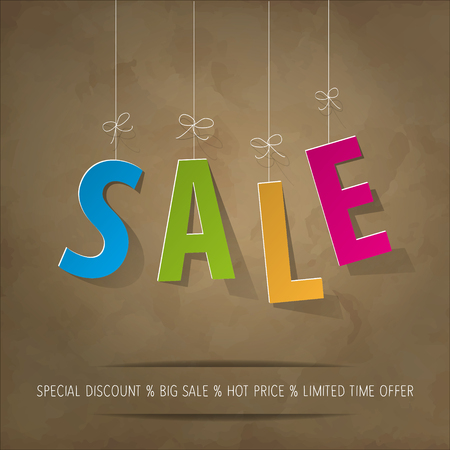 banderole: Sale colorful background Vintage