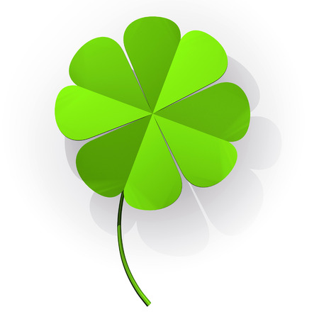 jahreswechsel: Happiness four leaf clover Stock Photo