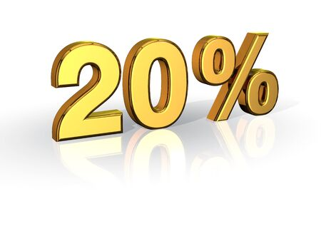 20% Off Special Offer GOLD 写真素材