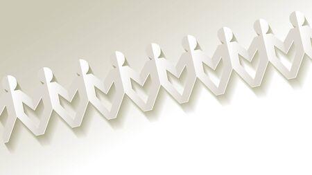 mankind: white paper fellows on white background