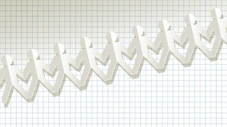 humane: white paper fellows on checkered background
