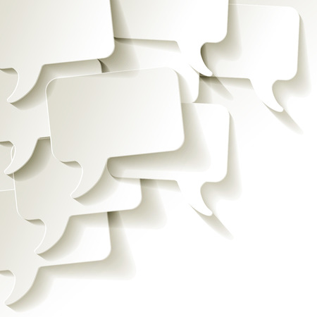 chat speech bubbles vector on a white background Stok Fotoğraf - 43757498
