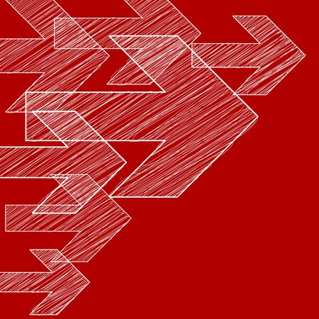 background next: Next white arrows in corner on a red background