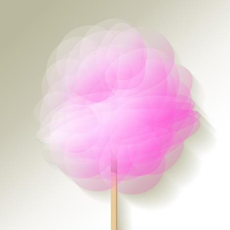 spun: candyfloss pink white