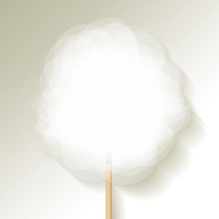 algodon de azucar: algodón de azúcar blanco Vectores