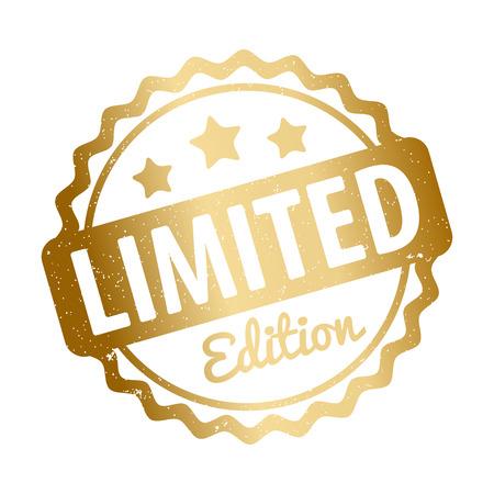 Limited Edition stempel vector award goud op een witte achtergrond. Stock Illustratie