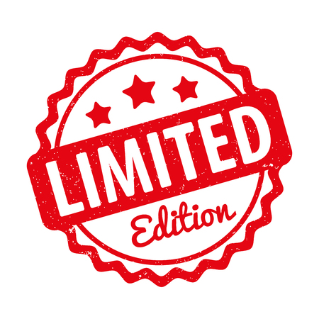 edition: Limited Edition rubber stamp award vector red. Illustration
