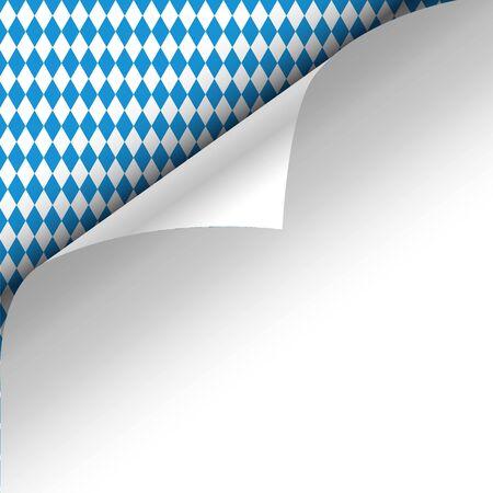 chit: Paper upper left corner on a germanium Oktoberfest background. Illustration