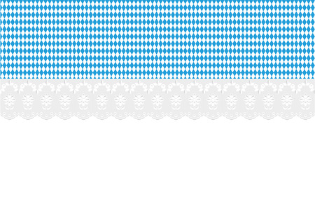 designated: Oktoberfest Bavaria Openwork diamond pattern on a white background.