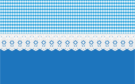 designated: Oktoberfest Bavaria Openwork diamond pattern on a blue background. Illustration