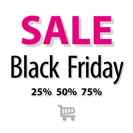 markdown: SALE Black Friday symbol pink on a white background.