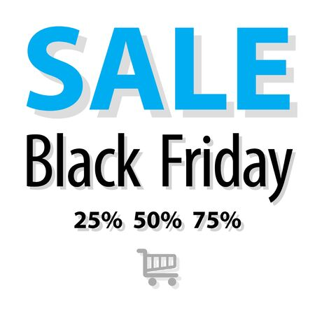 lowering: SALE Black Friday symbol blue on a white background.