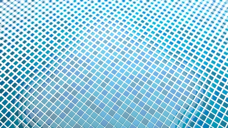 indefinitely: blue tiles background Convergent perspective with turquoise depth of field focus effect