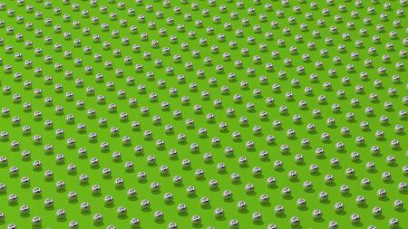 reiterate: metal balls background green