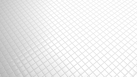 indefinitely: Convergent perspective 3D white tiles background Stock Photo