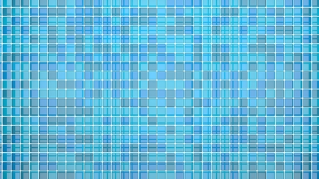 frontal view: blue tiles background frontal view