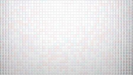 frontal: white tiles background frontal view Stock Photo