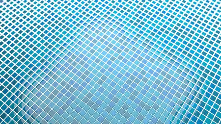 indefinitely: blue tiles background Convergent perspective Stock Photo