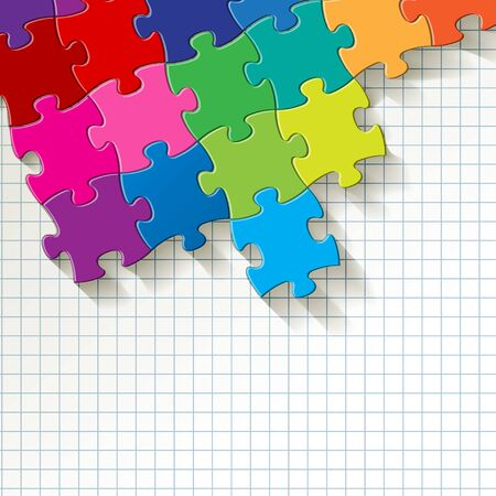 PUZZLE color on a checkered pattern background.