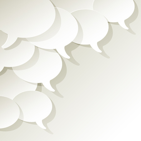 chat speech bubbles vector white ellipse in the corner