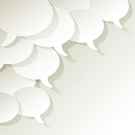 web survey: chat speech bubbles vector white ellipse in the corner