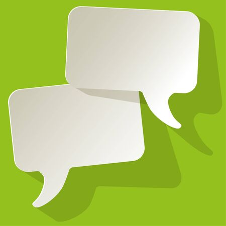 arbitration: chat speech bubbles vector white FreeSpace on a green background
