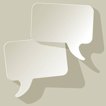 arbitration: chat speech bubbles vector white FreeSpace on a gray background