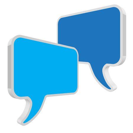 pronunciation: Speech bubbles in perspective blue
