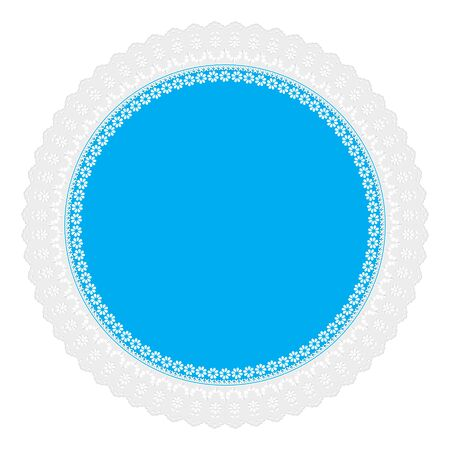 openwork: blue openwork napkin