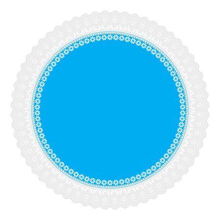 servilleta: servilleta azul calada