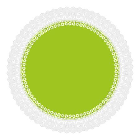 servilleta: calado servilleta verde Vectores