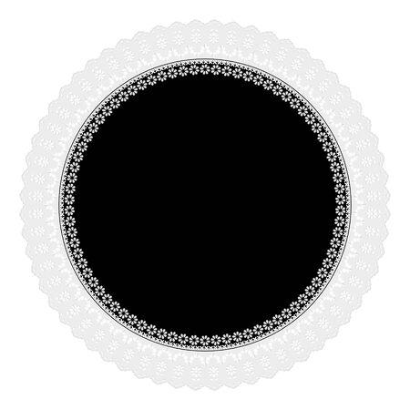 napkin: black openwork napkin
