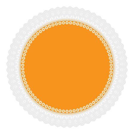 napkin: yellow openwork napkin Illustration