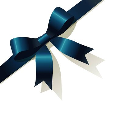 exempted: Blue pearlribbon on the white background