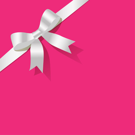 exempted: White pearlribbon on a pink background