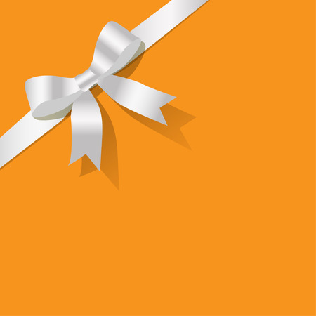 exempted: White pearlribbon on a yellow background