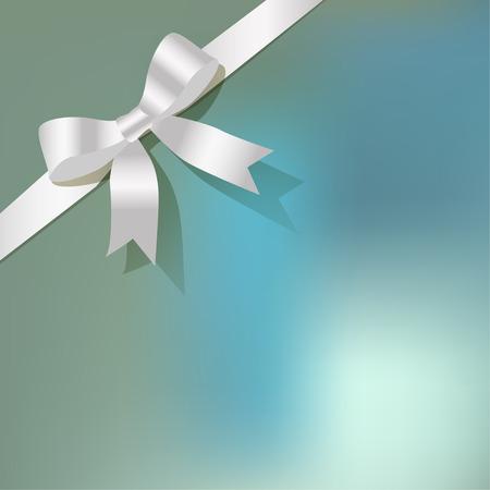 backgroud: White pearlribbon on a blue bokeh backgroud