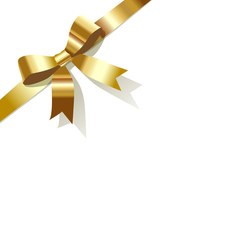 exempted: Gold ribbon bow Illustration