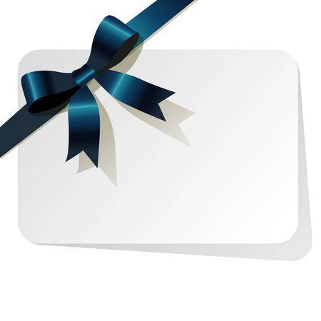 personas saludandose: Tarjeta de regalo con cinta de color azul oscuro