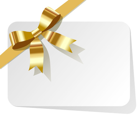 golden ribbon: Gift Card with golden ribbon