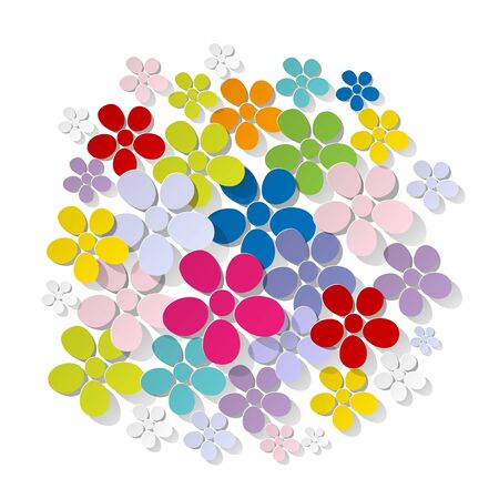 concept day: Bunch of flowers on a white background colorful