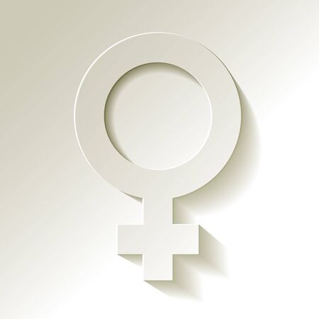 romantic sex: Venus symbol with shadow vector white