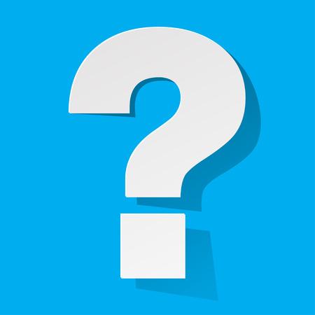 question mark: Question auf einem blauen Hintergrund Illustration