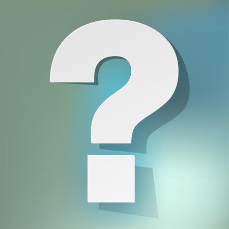 questionmark on a blue bokeh background