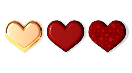 love card: 3 hearts praline chocolates, box of chocolates Stock Photo
