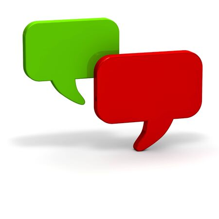 web survey: Dialog balloons red green chat