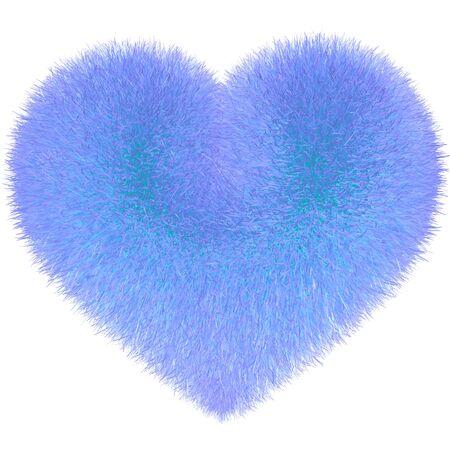 exempted female: Heart in fur light blue violet purple
